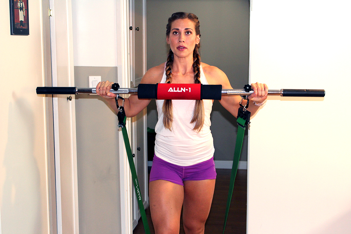 Multi-Function Resistance Band Barbell