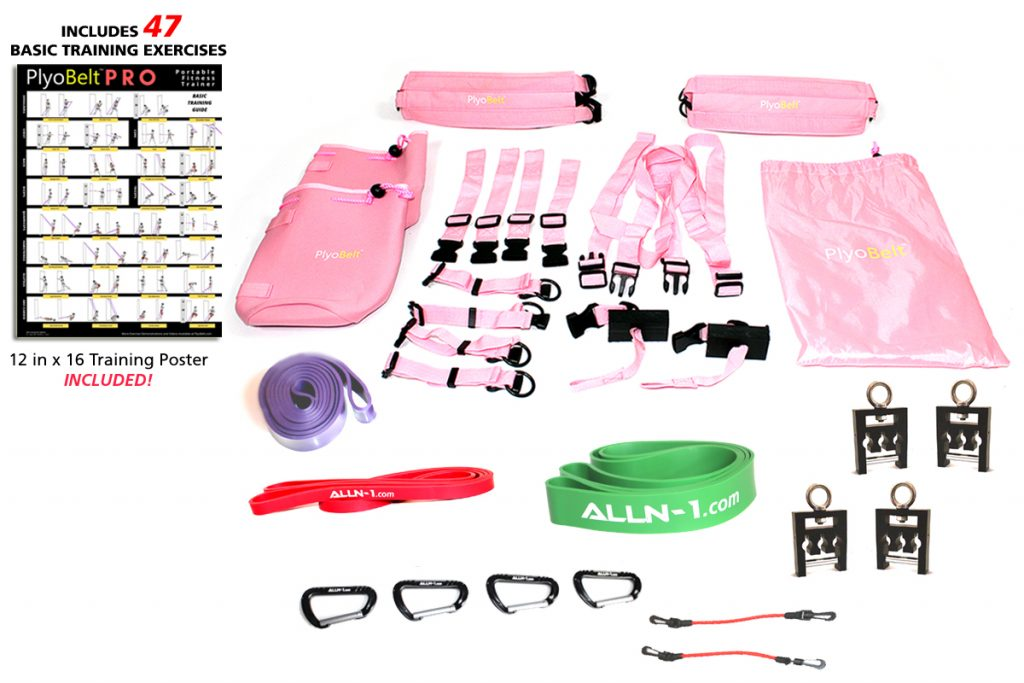 PlyoBelt PRO Portable Fitness Trainer - Pink