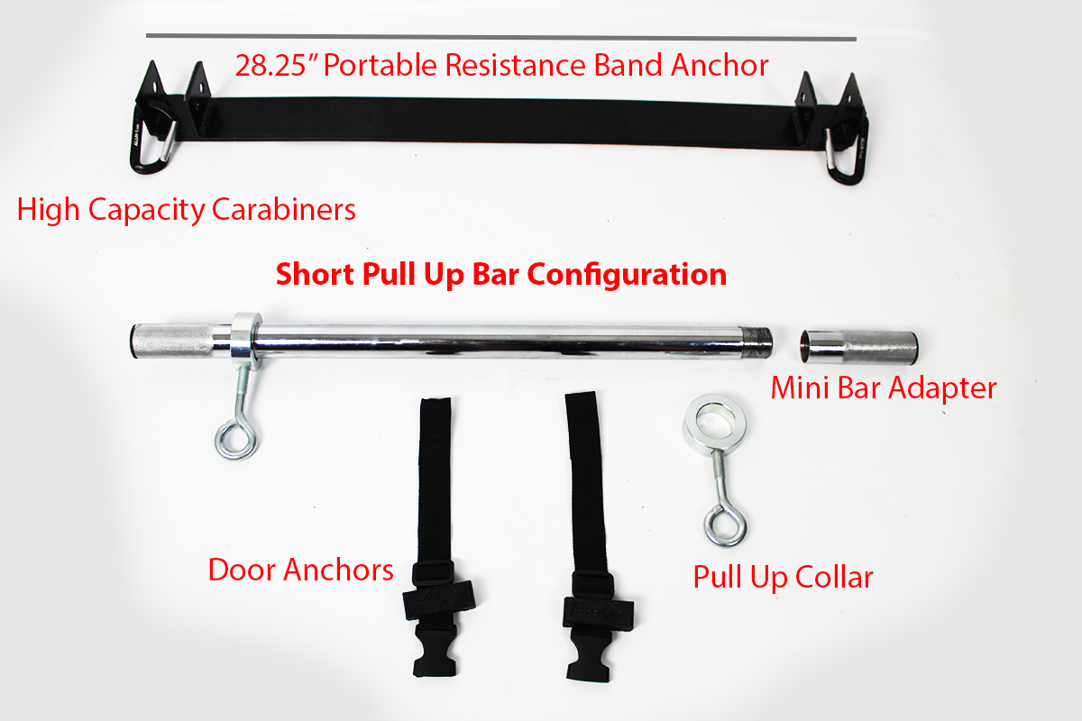 Multifunction Olympic, Isometric & Resistance Band Barbell - F2 Training System - Intermediate