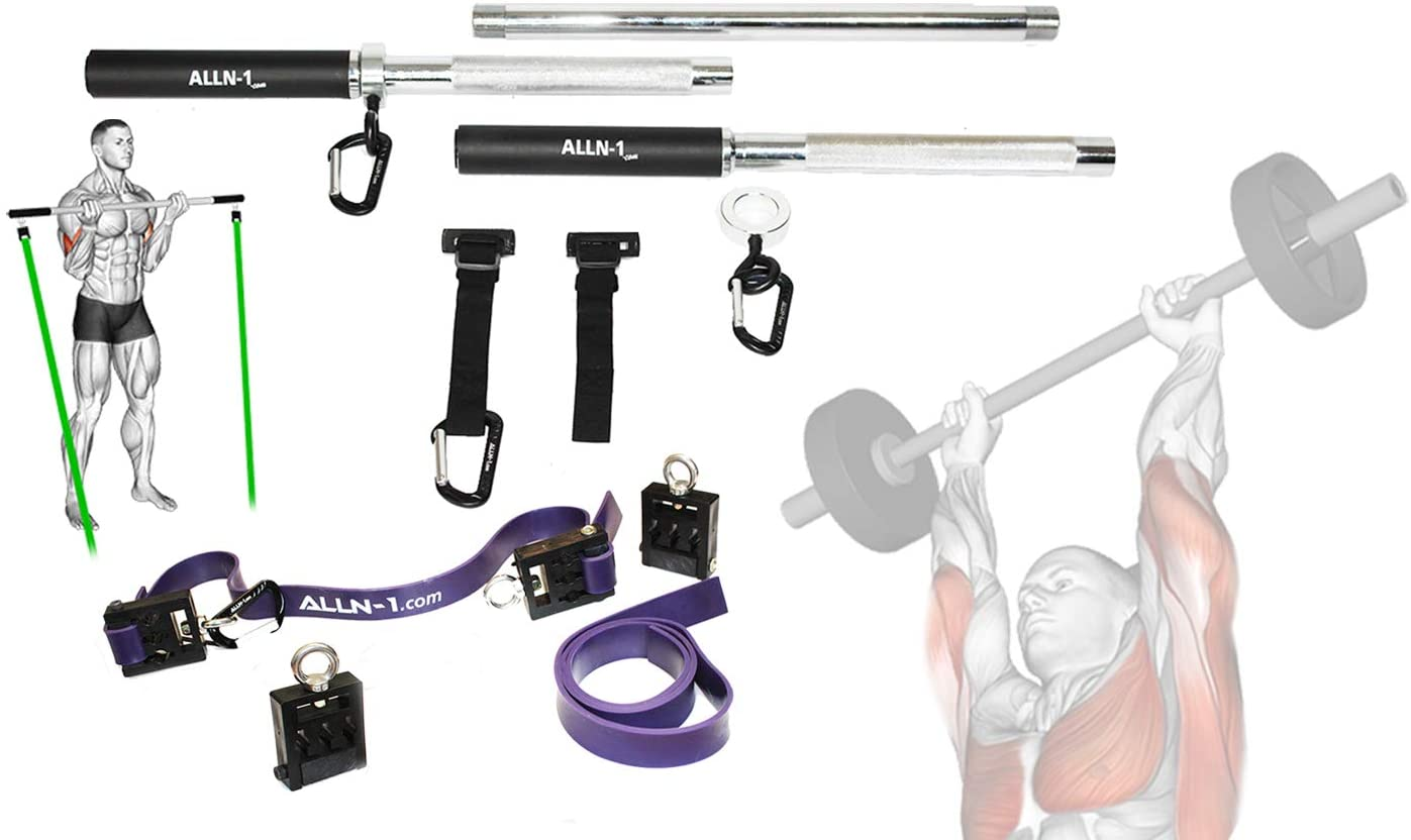 Multifunction Olympic, Resistance Band Barbell - F2 Training System - Beginner