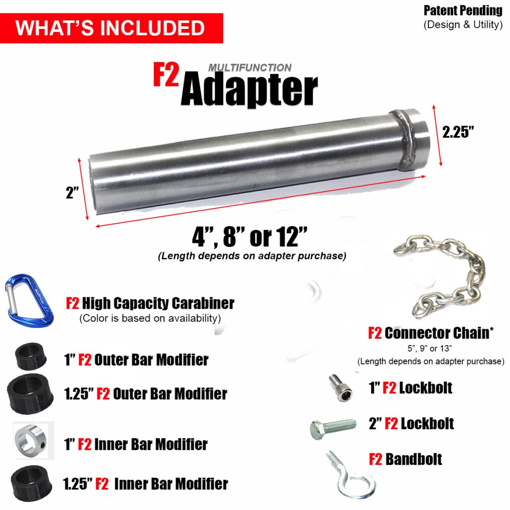F2 Adapters What's Included